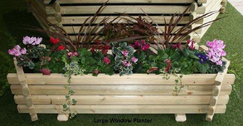 Large Wooden Trough Planter Window Box Garden Patio 49.5