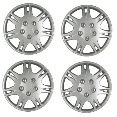 Set Of Four 15 Inch 2004 - 2006 Chevrolet Epica (Canada) Hubcaps Wheel Covers With A Silver Finish