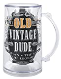 Laid Back CS1409 Mens Old Person Birthday Vintage Dude Tankard, 14-Ounce