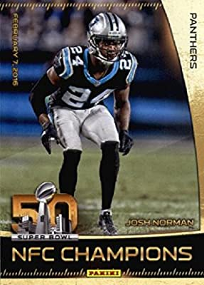2016 Panini Super Bowl 50 Josh Norman Carolina Panthers Football Card-MINT