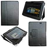 ProCase old generation Kindle Fire HD 7 Case - Bi-Fold Stand Folio Cover for Amazon Kindle Fire HD 7 Inch Tablet (2012 version) auto sleep /wake feature (Black) ~ ProCase