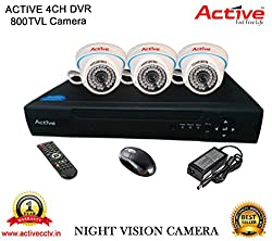 ACTIVE 4CH DVR 3PC NIGHT VISION DOM CCTV CAMERA COMBO