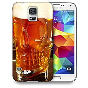 Snoogg Skull Shape Beer Glass Designer Protective Back Case Cover For SAMSUNG GALAXY S5 MINI