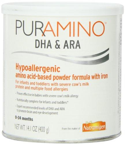 PurAmino Hypoallergenic Amino Acid based Formula with Iron Powder, 14.1 Ounce Can