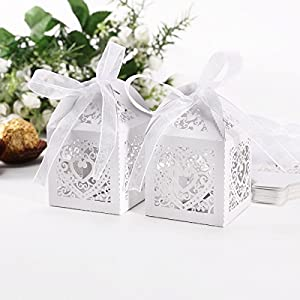 ... Wedding Favor Candy Boxes Gift Box Weddin...: Amazon.co.uk: Kitchen
