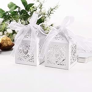 Wedding Gift Box Amazon : ... Wedding Favor Candy Boxes Gift Box Weddin...: Amazon.co.uk: Kitchen