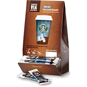 Starbucks VIA Ready Brew Coffee, Decaf Italian Roast, 50-Count