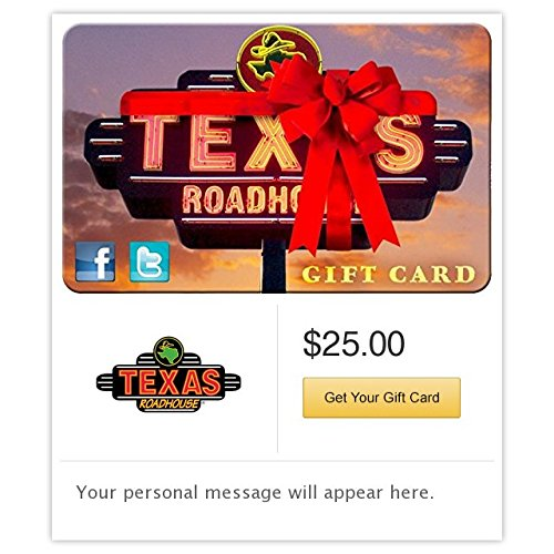Texas Roadhouse Ribbon Gift Cards - E-mail Delivery (Electronic Gift Cards Restaurants compare prices)