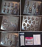 Harry Potter Chocolate Frog Mold Kit - Includes 5 Molds, 100 Sticks, 100 Bags, 50 Ties