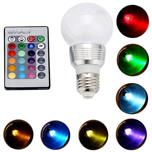 Hde Energy Efficient 5 Watt Color Changing Frosted E27 Led Light Bulb