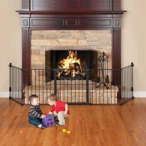 Kidco Auto Close Hearth Gate- Black