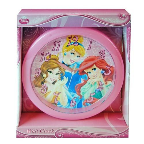 Disney Princess Disney 10 Wall Clock: Princess Wall Clock Quartz Accuracy, Easy Wall Mounting. Battery Operated Requires 1 Aa Battery (Not Included)