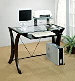 Coaster 800445 Division Table Desk with Glass Top, Cappuccino