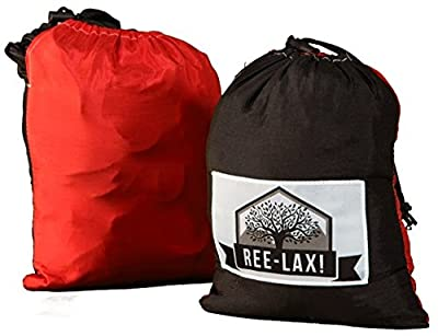 Jumbo REE-LAX Double Hammock - Portable Nylon Parachute Material - Bicycling, Camping, Hiking, Backpacking or Travel