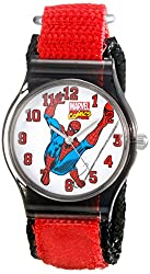 Marvel Kids W001731 Spider-Man Analog Display Analog Quartz Red Watch