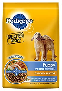 Pedigree PUPPY Targeted Nutrition Chicken Flavor Dry Food Bag, 7 Pound
