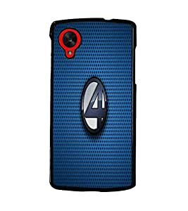 PrintDhaba Numerology Number 4 D-1601 Back Case Cover for LG GOOGLE NEXUS 5 (Multi-Coloured)