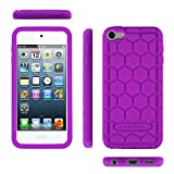 Fintie iPod Touch 6th Generation Case - [Shock Proof] Anti Slip [Honey Comb Series] Silicone Protective Case Cover [Kids Friendly] for Apple iPod Touch 6 / iPod Touch 5, Purple