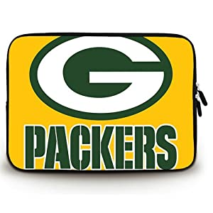 HUADO Style Green Bay Packers(1) Laptop Sleeve Portable Laptop Carrying Bag Twin Sides Patterns Waterproof Canvas Fabric Case for 10 10.1 Inch Laptop