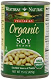 Westbrae Natural Vegetarian Organic Soy Beans, 15 Ounce Cans (Pack of 12)