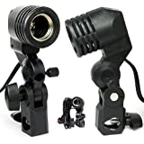 FoxHunter Photography E27 Bulb Holder Socket Flash Umbrella Swivel Bracket Photo Light Lamp Mount New