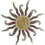 Wandh nger wandschmuck sonne aus metall 96 cm for Metall sonne gartendeko