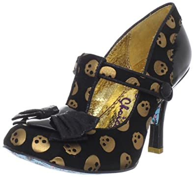 Irregular Choice Women's Chilly Dog Wedge Pump,Black,6.5 M US