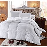 Royal Hotel's 300 Thread Count King Size Goose Down Alternative Comforter 100% Egyptian Cotton 300 TC - 750FP - 86Oz - Solid White