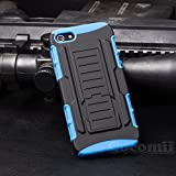 iPhone 5 / 5S Case, Cocomii® [HEAVY DUTY] iPhone 5 / 5S Robot Case **NEW** [ULTRA FUTURE ARMOR] Premium Belt Clip Holster Kickstand Bumper Case - Full-body Rugged Protective Cover for Apple iPhone 5 / iPhone 5S (Black/Blue) ★★★★★