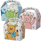 German-Trendseller-8-x-Teddy-Br-Mitgebsel-Boxen-8-Malbcher-Stifte-zum-ausmalen–Party-Boxen-mit-Griff-zum-Befllen–Kindergeburtstag