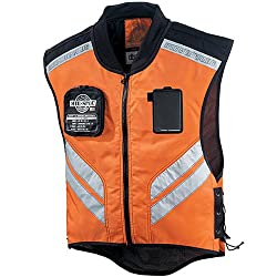 Icon Mil Spec Men's Mesh Street Bike Motorcycle Vest - Orange
