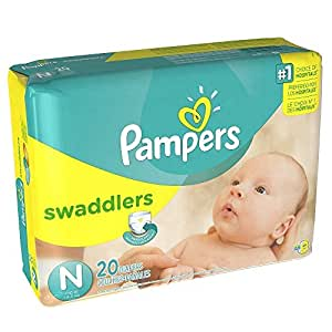 Pampers Swaddlers Newborn 20 Diapers (1 Pack of 20)