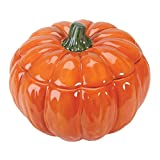 Home Gourmet Collection Orange Ceramic Pumpkin Soup Bowl with Lid