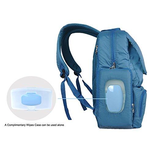 bebamour unisex large capacity baby backpack diaper bag padded daypack travel bag purse luggage. Black Bedroom Furniture Sets. Home Design Ideas