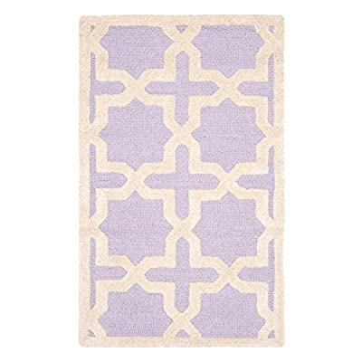 Safavieh Cambridge Collection CAM125A Handmade Light Blue and Ivory Wool Area Rug