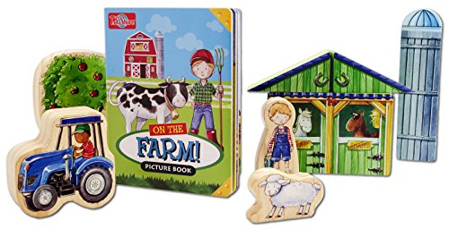 T.S. Shure ArchiQuest Wooden Farm Blocks Playset & Storybook