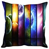 Sleep nature's Micro Fabric Solar System Printed Cushion Cover, 16 Inches x 16 Inches