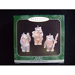 Set of 3 Ewok Star Wars Christmas Ornaments
