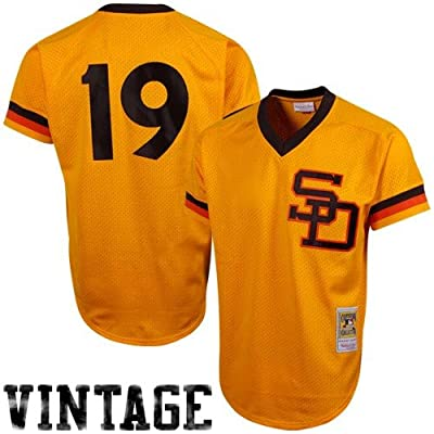 MLB Mitchell & Ness Tony Gwynn San Diego Padres 1982 Authentic Throwback Mesh Batting Practice Jersey - Gold