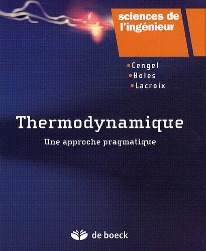 thermodynamique une approche pragmatique pdf