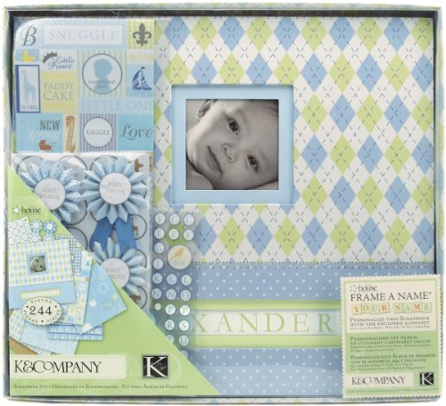 "Postbound Scrapbook Kit Boxed 12""X12""-Little House Baby Boy"