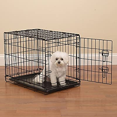 ProSelect Easy Dog Crates for Dogs and Pets - Black; Small