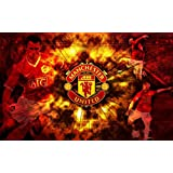 Manchester United Football Poster. Printelligent Poster Collection Of Sports Stars For Die Hard Football Fans. Images Of Wall Decals Posters For Room In Home And Office. Poster-1