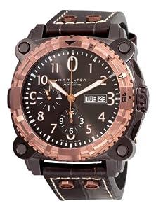 Hamilton Men's H78626583 Khaki Navy BelowZero Black Chronograph Dial Watch