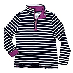 Bianca Ladies Womens Striped Sweater Sweater Top - Tayberry