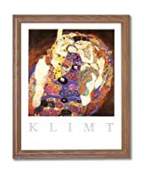 Gustav Klimt The Virgin Contemporary Home Decor Wall Picture Oak Framed Art Print