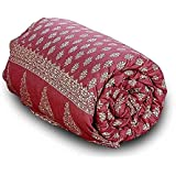 Little India Stylish Jaipuri Print Cotton Double Bed Comforter 612