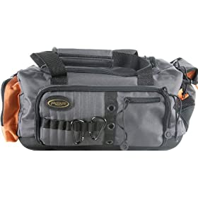 Ready To Fish Soft Sided Tackle Bag, Black/Orange