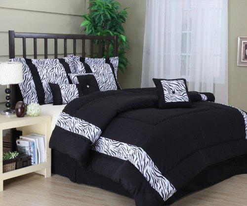 Luxury Textured Mali 7-Piece Comforter Set By Nanshing - King Size front-44031