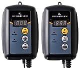 (2) HYDROFARM Hydroponic Seed Heat Mat Digital Temperature Controllers | MTPRTC